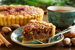 American classic cake with pecans Stock Images
