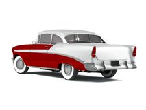 American Classic Car. 3D render of a american classic car over a white background Royalty Free Stock Photography