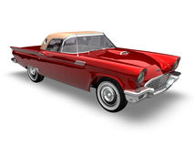 American Classic Car 2. 3D render of a american classic car over a white background Royalty Free Stock Photography