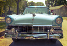 American Classic Car. An impeccable 1956 Ford Fairlane Victoria parked in front of Thomas Edison's house in northern Ohio Royalty Free Stock Images