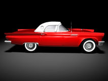 American Classic Car 3. 3D render of a american classic car over a black background Royalty Free Stock Photography