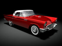 American Classic Car. 3D render of a american classic car over a black background Stock Photography