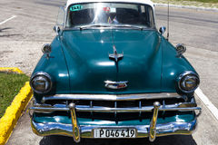 American classic car in cuba Trinidad. American classic car parked in cuba Trinidad Royalty Free Stock Photography