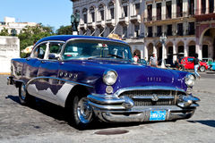 American classic car in Havana Royalty Free Stock Photos