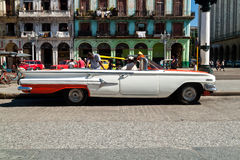 American classic car in Havana Royalty Free Stock Images