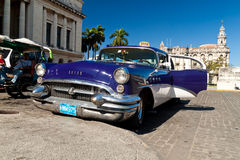 American classic car in Havana Stock Photo