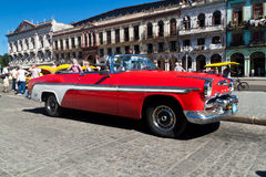 American classic car  in Havana Stock Photos
