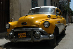 American classic car in Cuba Royalty Free Stock Photos
