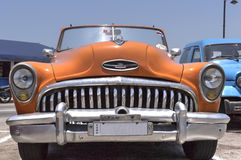 American classic car in Havana, Cuba. Front view of a classic american car Royalty Free Stock Images