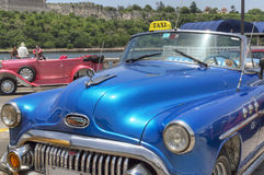 American classic car in Havana, Cuba. A well restored old american car, serving as taxi for tourists in Havana royalty free stock images