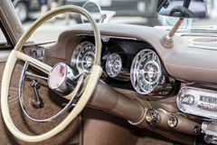 American Classic Car Interior Royalty Free Stock Photography