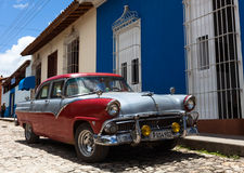 American classic car in Trinidad cuba. American classic car parked in Trinidad cuba Stock Image