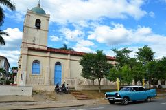 American classic car in Vinales, Cuba Royalty Free Stock Photography