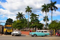 American classic cars in Vinales, Cuba Stock Photography