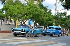 American classic cars in Vinales, Cuba Stock Image