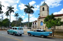 American classic cars in Vinales, Cuba Stock Photos
