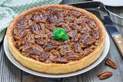 American classic homemade pecan pie Stock Photo