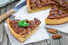 American classic homemade pecan pie Stock Photography