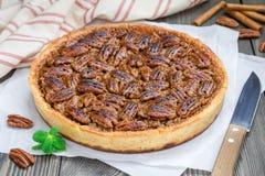 American classic homemade pecan pie Stock Image