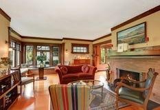 American classic living room interior design Stock Images