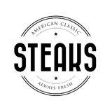 American Classic Steaks vintage stamp Royalty Free Stock Photography