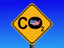 American CO2 emissions sign royalty free stock photos