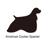 American cocker spaniel dog silhouette, side view, vector illus Royalty Free Stock Photography