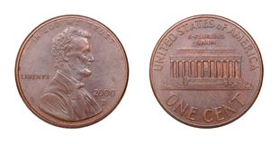 American coin at one cents Stock Images
