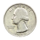 The American coin in twenty five cents Stock Photography