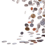 American coins. Falling to the ground Royalty Free Stock Photos