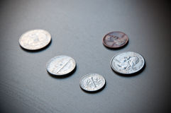 American Coins. Royalty Free Stock Image