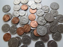 American Coins Stock Photo