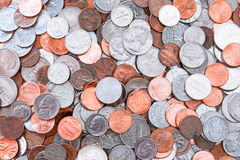 American coins background Royalty Free Stock Image