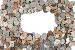 American coins pile background cutout isolated Royalty Free Stock Image