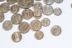 American coins. Some are old. Historical. Stock Photography