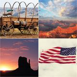 American collage Royalty Free Stock Photo