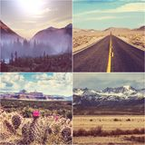 American collage Stock Photography