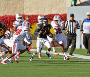 American College football - bracing for tackle Stock Photography