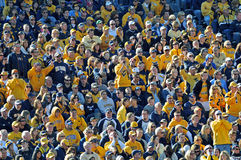 American college football - crowd - WVU Stock Image