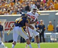 American College football - quarterback pass Royalty Free Stock Photos