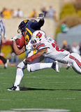 American College football - tackle Stock Images