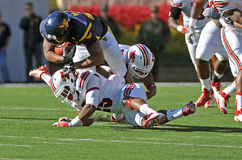 American College football - tackle Stock Photo