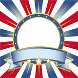 American color background. American Colors Ring Banner for designers Royalty Free Stock Images