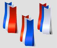 American color silk strips Royalty Free Stock Image