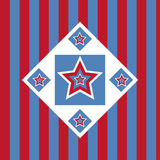 American colored stars background Stock Images