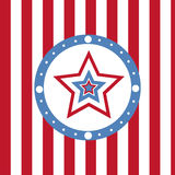 American colored stars background Royalty Free Stock Photography