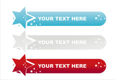 American colored stars banners Royalty Free Stock Photo