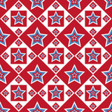 American colored stars pattern Royalty Free Stock Photography