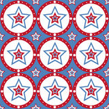 American colored stars pattern Royalty Free Stock Image