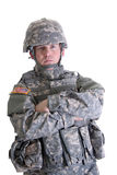American Combat Soldier. An American Soldier in his full combat gear Royalty Free Stock Image